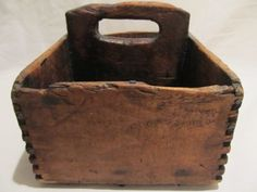 Wooden Treen Carrier Cutlery Tray Tool Caddy Box
