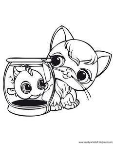 Quirky Artist Loft: Littlest Pet Shop - Free Printable Coloring Book
