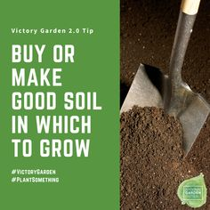 Buy or make good soil for your Victory Garden - National Garden Bureau - 10 tips to plan your own Victory Garden
