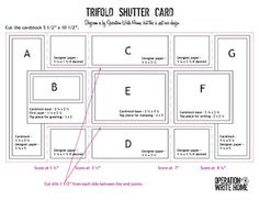 Trifold Shutter Card Tutorial with Diagram