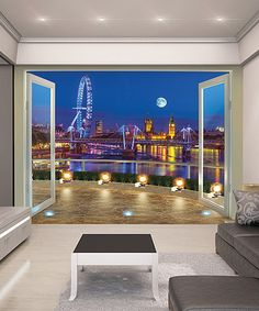 Another great find on #zulily! London Skyline Wall Mural #zulilyfinds
