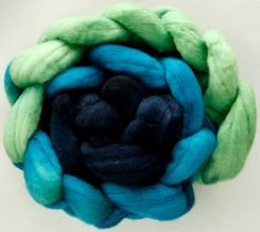 Hand dyed fine merino wool roving for spinning or by HeavenlyWools, $14.50