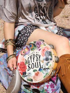 Gypsy Tambourine, Blame My Gypsy Soul, Gypsy Decor, Gypsy Soul, Boho, Festival, Tambourine by BohoCircus on Etsy https://www.etsy.com/listing/172165484/gypsy-tambourine-blame-my-gypsy-soul