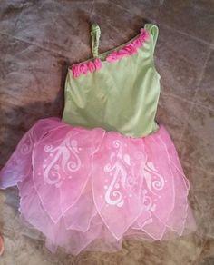 Dance Dress Girls  M 7  8 Ballet Leotard Gymboree Green Fairy Costume Sparkly #Gymboree