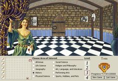 Encarta Mind Maze. I had this and played it, even though I didn't understand any of the questions!