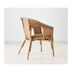IKEA - AGEN, Armchair, Handwoven; each piece of furniture is unique.Stackable chair; saves space when not in use.Plastic feet; protect the furniture if in contact with a moist surface.