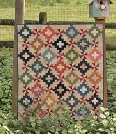 Civil War reproduction quilt from the book The Blue and the Grey