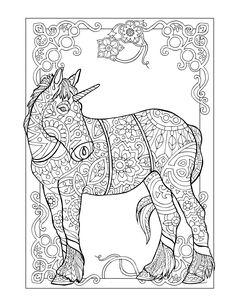 225 Best Horse Lovers Coloring Books images | Coloring books ...