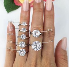 Definitely a 1.5-2 carat ring is best...anything below us smaller above too big