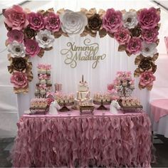 fiesta de 15 aos 32 custom name piece for Ximena Madelyn, beautifully on display! How pretty is this table setup by Quince Decorations, Quinceanera Decorations, Quinceanera Party, Birthday Party Celebration, Birthday Party Decorations, Birthday Parties, Party Themes, Birthday Ideas, Sweet 16 Birthday