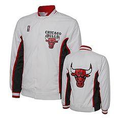 Chicago Bulls Men s White Retro Warm-Up Jacket  Bulls  Retro  Warmup   e3a92d9001e