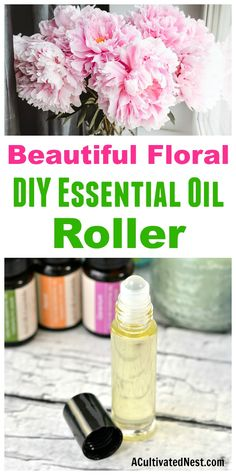 Floral DIY Essential Oil Roller- Perfurm -This DIY rollerball perfume is so easy to make, and smells wonderfully floral! Check out this tutorial to find out how to make your own roll on perfume! | perfume rollerball, floral perfume, DIY gift ideas, #perfume #diybeauty #essentialoils #diygifts