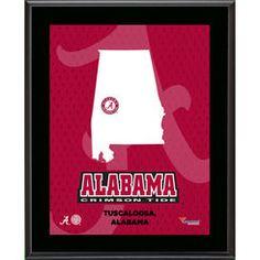 "Alabama Crimson Tide 10.5"" x 13"" Sublimated State Plaque"