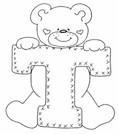 4 Modelos de Alfabeto Completo para Colorir e Imprimir - Online Cursos Gratuitos Letter Patterns, Felt Patterns, Applique Patterns, Embroidery Alphabet, Embroidery Stitches, Embroidery Designs, Colouring Pics, Coloring Books, Coloring Pages