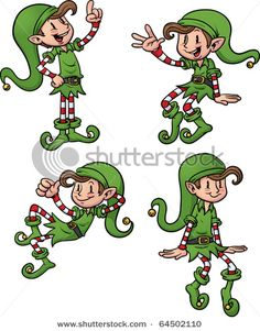 Cute Cartoon Christmas Elves All Separate Stock Vector (Royalty Free) 64502110 Noel Christmas, Christmas Books, Christmas Pictures, Christmas Crafts, Christmas Ornaments, Santa Cartoon, Cute Cartoon, Santa I Know Him, Clip Art Pictures