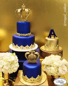 Likes, 42 Comments - Royal Cakes Royal Blue Cake, Royal Cakes, Prince Birthday Party, Birthday Cake, Prince Party, Prince Cake, Royal Prince, Bolo Fack, Party Favors For Adults