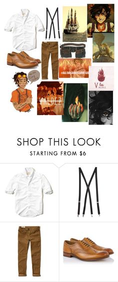 """""""Leo Valdez🔥"""" by persassy-4-life ❤ liked on Polyvore featuring Hollister Co., Forever 21, Grenson, Ultimate, men's fashion and menswear"""
