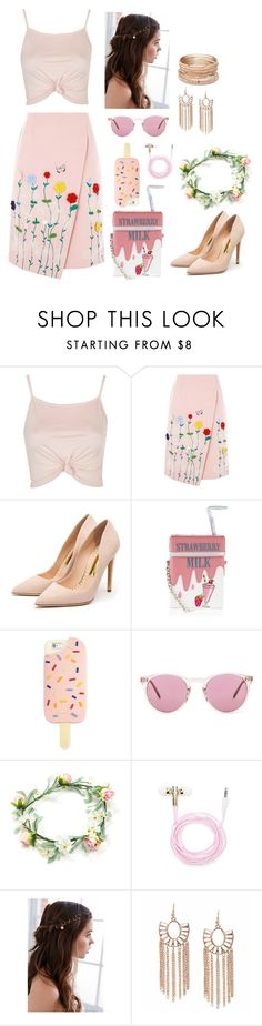 """""""Untitled #72"""" by hien-anhhs on Polyvore featuring Topshop, VIVETTA, Rupert Sanderson, Accessorize, Tory Burch, Oliver Peoples, Forever 21, REGALROSE and Red Camel"""