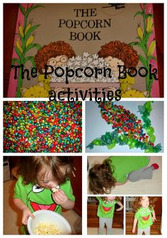 Coloured Popcorn Kernels {The Popcorn Book by Tomie de Paola}
