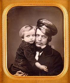 Father and son, c. 1853