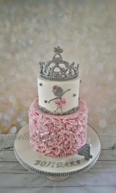Birthday Cake Crown Jewels Cake by Victoria Mkhitaryan
