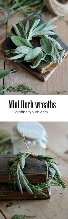 Craftberry Bush | Mini Herb Wreath | http://www.craftberrybush.com