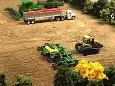 Toy Trucks, Monster Trucks, Diorama, Tractor Cakes, Farm Images, Toy Display, Farm Toys, Gnome Garden, Farm Gardens