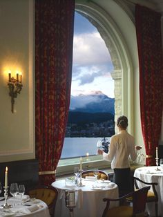 Stayed at the Carlton Hotel. St. Moritz.  An amazing hotel with marvelous views and great food.