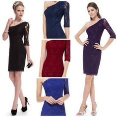 *HOT* One Shoulder Lace Cocktail Party Evening Dress | Get FREE Samples by Mail | Free Stuff