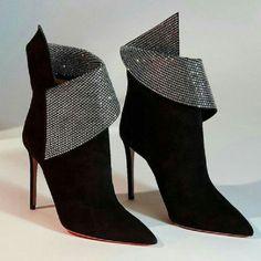 Stilettos, Pumps, Hot Shoes, Crazy Shoes, Me Too Shoes, Shoes Heels, Black Shoes, Black Suede, Black Booties