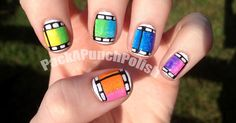 Colorful Film Strip Nails.