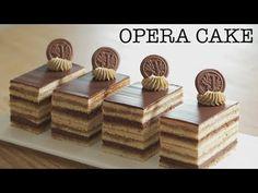 How to make Heavenly Opera Cake Elegant Desserts, Fancy Desserts, Delicious Desserts, Cake Decorating Piping, Cake Decorating Videos, Opera Cake, Chocolate Deserts, Beautiful Cake Designs, Cakes Plus