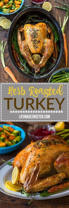 Herb Garlic Roasted Turkey makes the perfect addition to any holiday meal! Best of all, this foodproof recipe is my favorite go-to I use every year for Thanksgiving and Christmas. It's full of sage, thyme, rosemary and parsley and produces a tender, moist and juicy turkey with a gorgeous golden skin. @canadianturkey #sponsored #FestiveCdnTurkey