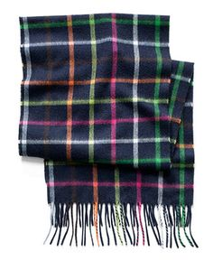 COACH CASHMERE CLASSIC COACH LEGACY TATTERSALL SCARF - Gloves & Scarves - Handbags & Accessories - Macy's
