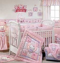 Looking for adorable theme for your baby nursery? If you are going to decorate a nursery room for baby girl, why not check out Hello Kitty theme...