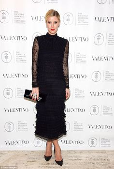 Nicky Hilton in Valentino  attended the annual Memorial Sloan Kettering Associates Fall Party on November 11, 2015