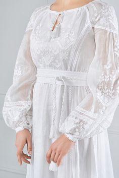 Сукня вишита білим по білому, фото 4
