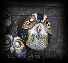 Owl-no23-painted-stone-art-rock-painting