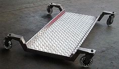 All aluminum shop creeper. I built it because I was tired of creepers with tiny wheels and padding that easily burns. It features 4 caster wheels and has 3/4 ground clearance for a low profile. Contributed by: C. Maurer. To find and share additional welding project ideas plans, visit: www.millerwelds.com/interests/projects/