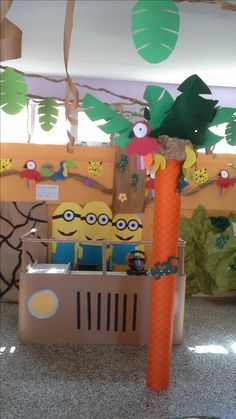 Our classroom jeep, ready for a spin with minions as passengers.- Το τζιπ της τάξης με τα μίνιον ως συνεπιβάτες.