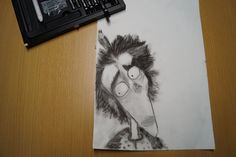 Kohlestift zeichnung made by Wunderdings-Kathi Gmeis// idee Tim Burton Tim Burton, Raven, Soapstone, Do Your Thing, Crafts, Do Crafts, Crow, Ravens, The Crow