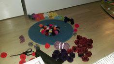 DIY Pompom Teppich Wohnideen