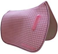 Baby Pink Dressage Saddle Pad with Black Piping/Trim.