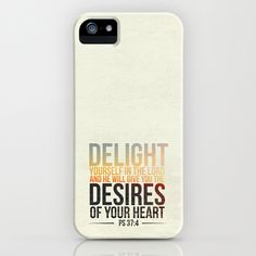Psalm 37:4 iPhone Case by Pocket Fuel - $35.00