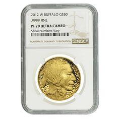 2012-W 1 oz $50 Gold American Buffalo Proof Coin NGC PF 70