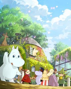 Moomin is so cute INFPs love cute characters Moomin Wallpaper, Fairy Wallpaper, Tove Jansson, Illustrations, Illustration Art, Moomin Cartoon, Moomin Valley, Galerie D'art, Cute Images