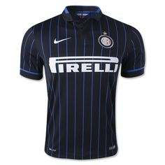 Men's 2014/15 Inter Milan Black/Blue Home Soccer Jersey