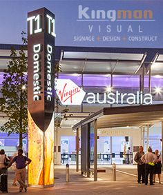 As Perth's premium signwriters, Kingman Visual specialises in crafting unique signage that stands out from the crowd. Pylon Signage, Wayfinding Signage, Signage Design, Environmental Graphics, Environmental Design, Vertical Signage, Perth Airport, Sign Installation, Monument Signs