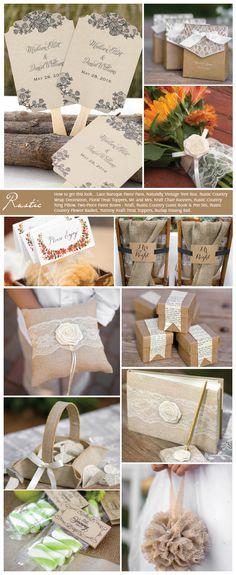 Rustic Wedding Inspiration - I LOVE all the burlap stuff!
