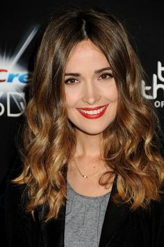 Rose Byrne with a subtle ombre. This is how to do ombre RIGHT.